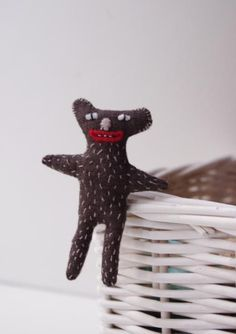 Sweet hand embroidered Koala brooch from Adatine