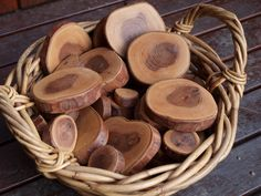 Waxed wood cookies for the Reggio inspired classroom. These are beautiful!