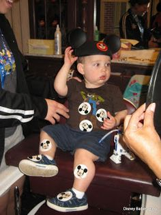 A real working barber shop at Walt Disney World? They specialize in first haircuts - hats included for under $20!
