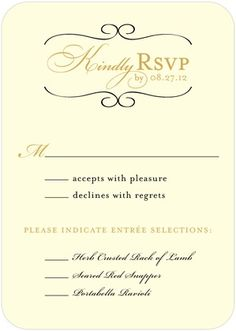 5 types of wedding rsvp card wording wedding rsvp pinterest wording kindly rsvp by date stopboris Images