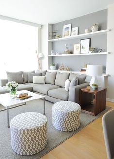 Small Living Room Design must be awesome if you want to make your best fell cozy enough. Here are few tips on how to design a best small living room. home living room 50 Best Small Living Room Design Ideas For 2019 - Page 3 of 5 - InteriorSherpa Living Room Interior, Home Living Room, Apartment Living, Cozy Apartment, Kitchen Living, Kitchen Decor, Living Room Stools, Condo Interior, Simple Living Room