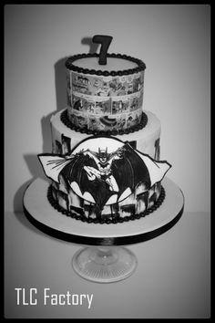 Black and White Batman - Cake by Katrina Denness