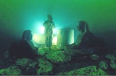 The palace of Cleopatra and a temple complex in Alexandria sank into the sea following earthquakes and tsunamis more than 1,600 years ago. These ruins are still being explored by underwater archaeologists.