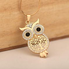 Owl Jewelry, Vintage Jewelry, Jewelry Necklaces, Women Jewelry, Long Necklaces, Pearl Necklaces, Owl Necklace, Long Pendant Necklace, Wire Tree Necklace