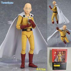 ONE PUNCH MAN Action Figures Saitama Sensei Figma 310# PVC Figure Toy 160mm Anime ONE PUNCH-MAN Saitama Collectible Model Doll