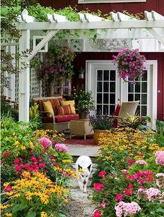 A pergola for the backyard patio.