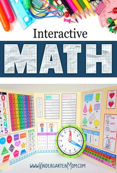 Students learn while playing games.....how fun is that?!  Hands-On Kindergarten Math Curriculum!  Interactive Math Curriculum Notebook is a brand new program that covers an entire year of Kindergarten Math.  Print & Go, this program is available in an Instant Download.   via @CraftyClassroom