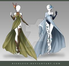 (CLOSED) Adoptable Outfit Auction 122-123 by Risoluce.deviantart.com on @DeviantArt