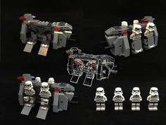 Lego Imperial Troop Transport with 4 Stormtroopers set 75078