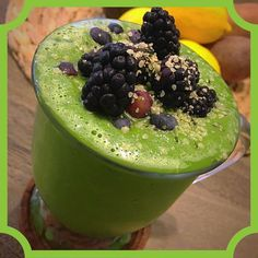 A green smoothie kind of morning by @goddess_of_greens #spirulina #chlorella #hempseeds #tahini #avocado #cucumber #celery #supergreens #blueberries #blackberries = #plantpowered #greensmoothie #hemphearts #hempfood #superfood #veganism #veganfoodshare #nongmo #glutenfree