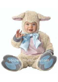 Animal costumes for kids are one of the most popular Halloween choices. Farm animal costumes range from newborn all the way to plus size. Choose a cow costume, lion costume, or even a sheep costume for Halloween this year! Baby Sheep Costume, Sheep Costumes, Baby Costumes For Boys, Toddler Costumes, Animal Costumes, Boy Costumes, Costume Ideas, Bear Costume, Halloween Bebes