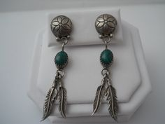 Sterling Silver 925 Post Earrings Etched Floer Drop by Replays