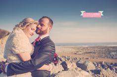 Areesha & Rhys' wedding at Rosedew Farm, Llantwit Major bride and groom portrait beach  ©Rachel Lambert Photography