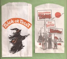 why don't they make these anymore....... Paper Halloween, Easy Halloween, Vintage Halloween, Halloween Costumes, All Falls Down, Trick Or Treat Bags, Autumn Harvest, Witches Brew, Ad Art
