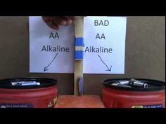 Test If Your Batteries Are Dead By Dropping Them on a Hard Surface by Lee Hite, youtube #Batteries #Bounce_Test