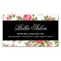 Girly Chic Elegant Vintage Floral Roses Business Card. I love this design! It is available for customization or ready to buy as is. All you need is to add your business info to this template then place the order. It will ship within 24 hours. Just click the image to make your own!