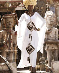 Stéphane Tourné | FashionGHANA.com (100% African Fashion) / afrique / rivièred'ocre / robe / géométrique / carré / motif