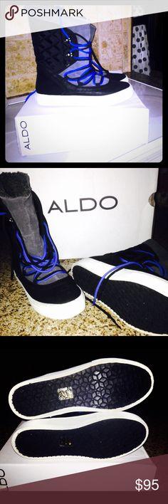 Aldo Thessa Winter Boots Lace up warm sneaker  style boots Aldo Shoes Winter & Rain Boots