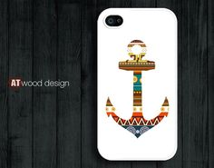 unique iphone case iphone 4 case iphone 4s case iphone 4 cover anchor graphic atwoodting design. $13.99, via Etsy.