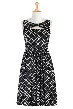 Keyhole front monochrome print dress STYLE # CL0027208 Reg $79.95, currently on sale for $63.95 @eShakti.com