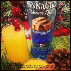 #9 is the classic Pinnacle® Mimosa 1 part Pinnacle® Cinnabon® Vodka 1 part Fresh OJ 2 parts Champagne Shake first two ingredients with ice and strain into a chilled champagne Flute and top with champagne. Garnish with some cranberries.