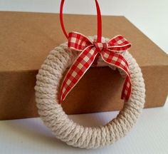 mason jar lid wreath ornaments
