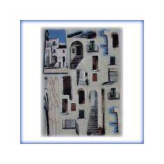 carta di riso per decoupage 30x42 paesaggio ideale per tegole