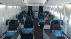 Hella Jongerius designs business class cabin for KLM