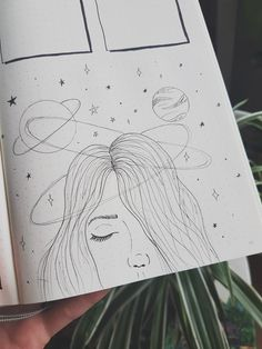 girl with galaxy in her mind..