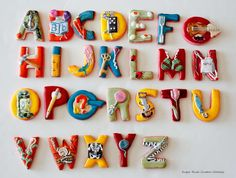 Alphabet Cookies - @Kristin Smith I instantly thought of Carter!