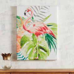 Tropical Flamingo Art   Pier 1 Imports