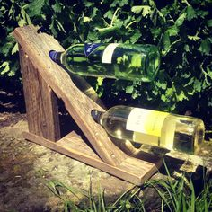 Original  Pallet Wine Rack  #palletdiyideas #palletwinerack #recyclingwoodpallets Pallet wine racks made from offcuts of pallet wood I had lying around my workshop. Made by Back From The Dead, bringing you unique and unusual items f...