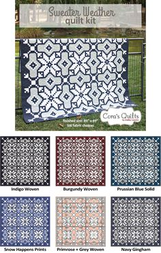 Sweater Weather quilt Kit by Shelley Cavanna of Cora's Quilts