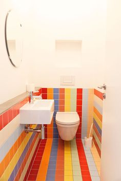 Crazy bathroom tiles by Christoph Niemann - Illustrator and Lisa Zeitz - Art Historian & Writer on the Selby