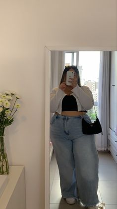 Thick Girls Outfits, Curvy Girl Outfits, Plus Size Outfits, Fat Girl Fashion, Curvy Fashion, Plus Size Fashion, Indie Outfits, Cute Casual Outfits, Fashion Outfits