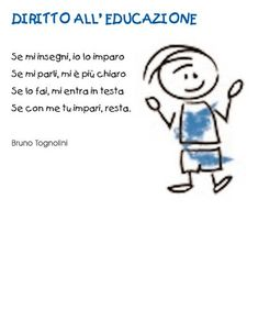 Poesia diritti dei bambini School Tomorrow, I School, Primary School, How To Speak Italian, Kid Picks, Kids Poems, Educational Activities For Kids, Learning Italian, Special Quotes