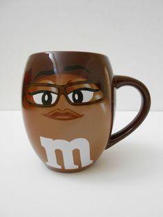 M M World MS Brown Coffee Mug Big Face Barrel Character Ceramic Cup Signature | eBay