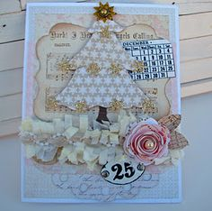 I used Melissa Frances, Echo Park, Crate paper on this card. The calendar is from Bety and the paper trim is Melissa Frances too.