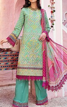 Sea Green Lawn Suit   Buy Rang Rasiya Pakistani Dresses and Clothing online in USA, UK