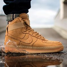 """Turn up the heat as the weather cools down in Fall. Check out the AF1 High """"Wheat"""" in the Air Force 1 category on SneakerNews.com"""