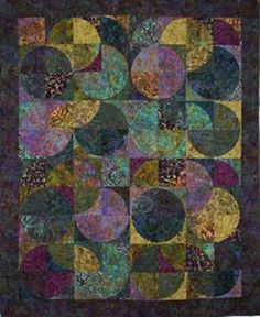 "Eclipse Batik Quilt Kit Sandy Brawer Quilt Country Quilting 74"" x 90"" DIY Batik Fabrics on Etsy, $99.95"