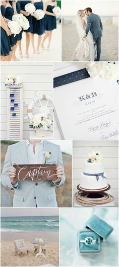 Thinking about a seaside celebration? Check out our Nautical Navy Wedding Inspiration! | Shine Wedding Invitations