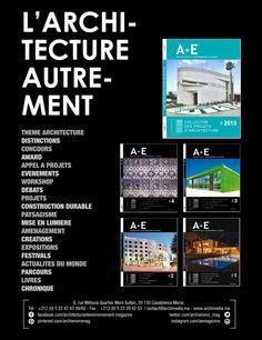 A+E Architecture et Environnement au Maroc / Magazine d'architecture qui retrace les moments forts de l'architecture marocaine
