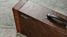 Walnut Pedalboard with Hand-Stitched Case Trim | Helweg Custom Pedalboards