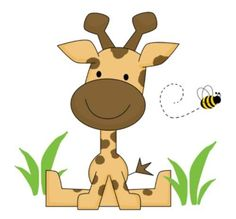 "Giraffe Wall Mural Baby Nursery Kids Room Decor measures 21.5"" Tall and 23.25"" Wide #decampstudios http://stores.ebay.com/DeCamp-Studios"