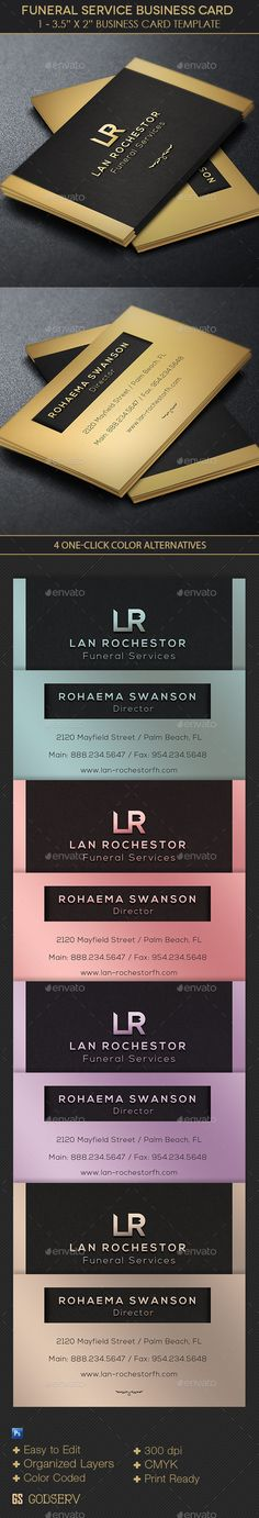 Funeral Service Business Card Template — Photoshop PSD #service #corporate • Available here → https://graphicriver.net/item/funeral-service-business-card-template/10998645?ref=pxcr