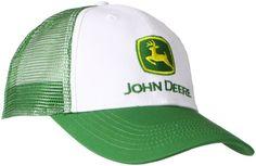 NEW John Deere Men's Trademark Logo Trucker Mesh Back Core Baseball Cap/one size #JohnDeere #BaseballCap