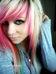 #blonde and #pink #dyed #hair