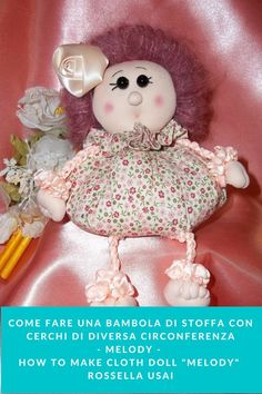 Pdf sewing Tutorial, how to Make a Fabric Doll Without a Sewing Machine. This cute Cloth doll, can be also made by hand. I hope you enjoy. Tutorial in Italian, English and Portuguese. A cute gift and so simple to make. Great for birthday party favors, birth, baby shower, or make a