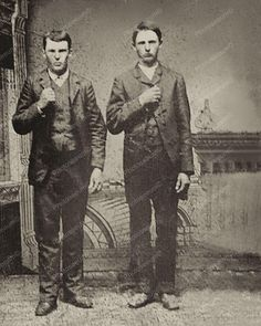 Jesse James & Frank James Vintage 1872 8x10 Reprint Of An Old Photo